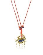Tory Burch Crab Collana in Cotone Rosso con Granchio Dorato - tory burch - it.forzieri.com