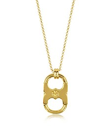 Gemini Link Goldtone Stainless Steel Pendant Necklace - Tory Burch