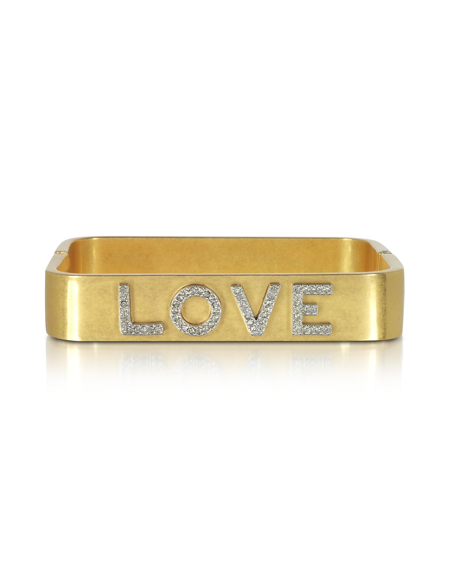 Love Message - Винтажный Золотистый Браслет Манжета