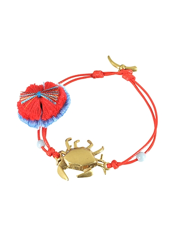 Crab Charm Thread Bracelet