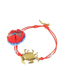 Crab Charm Thread Bracelet - Tory Burch