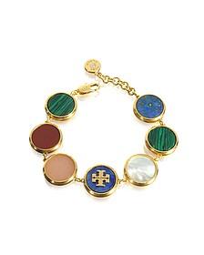 Multicolor Semi-precious Stone Bracelet - Tory Burch