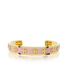 Tory Gold Brass and Enamel Raised Logo Bangle - Tory Burch