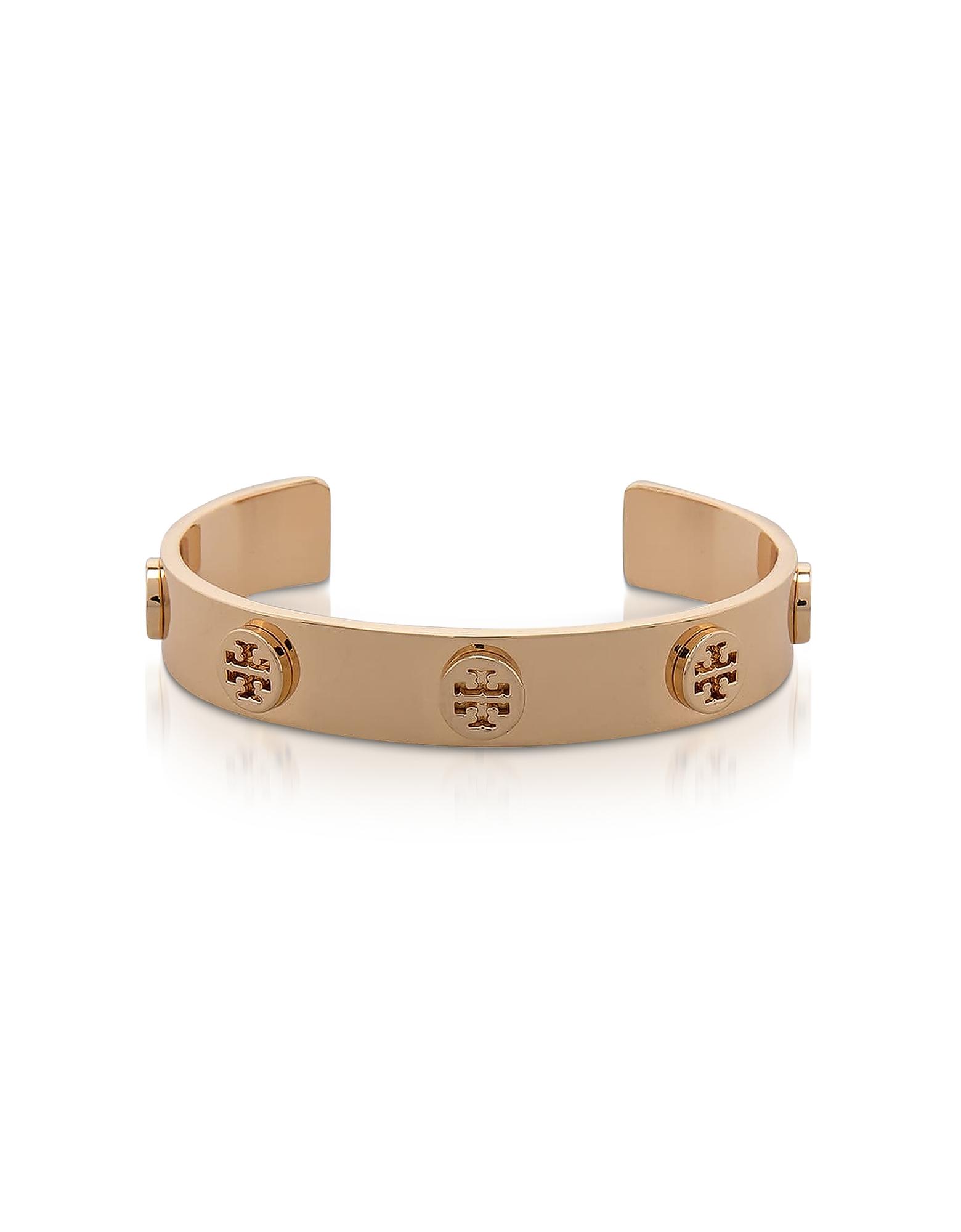 Tory Gold Logo Studded Cuff Bracelet
