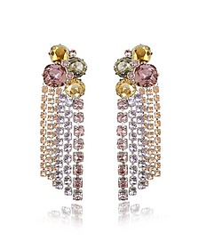Stone Cascade Clip on Earrings - Tory Burch