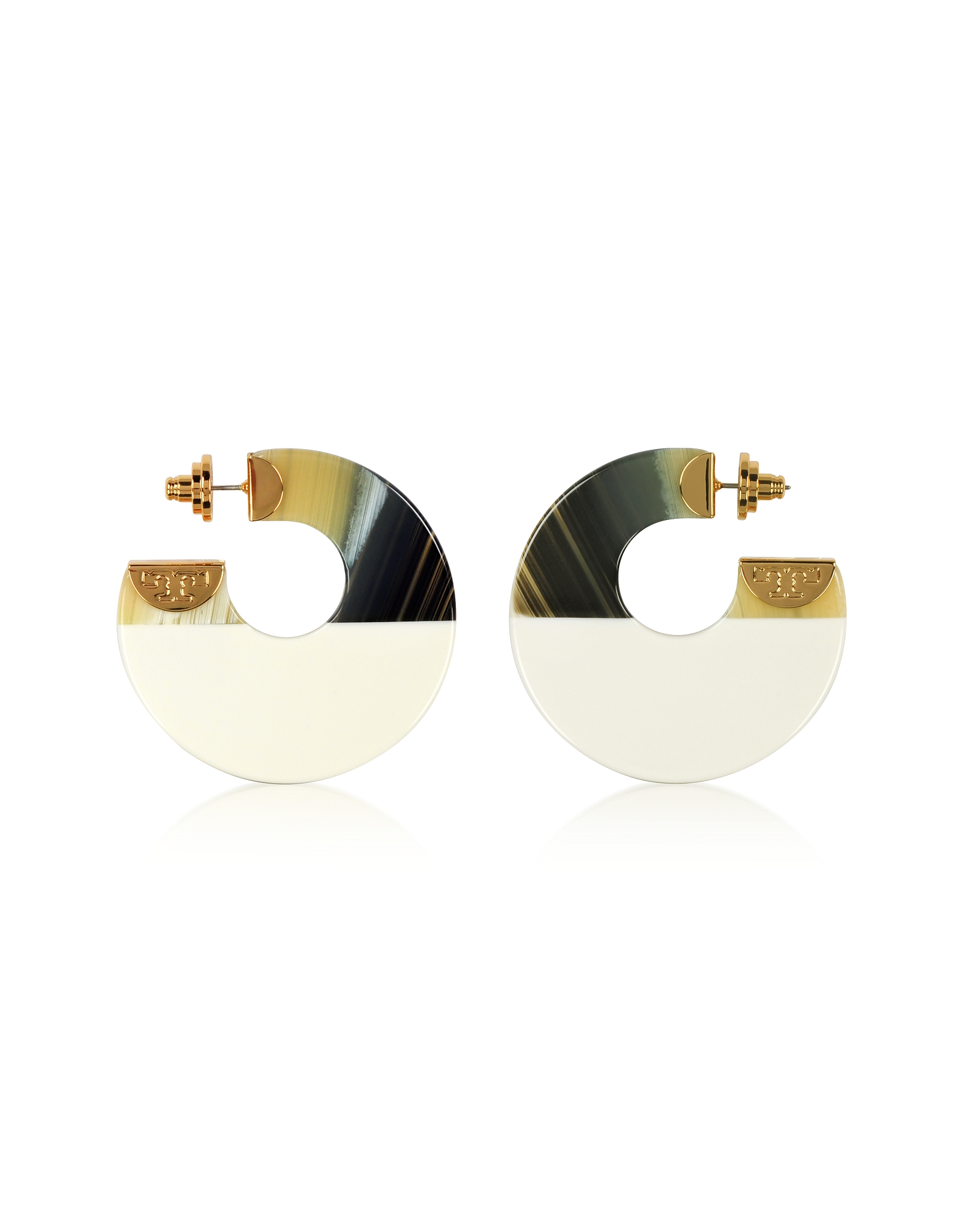 Tory Burch Earrings, Resin Color Block Hoop Earrings