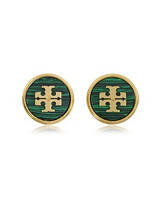 Malachite Semi-precious Stone Earrings - Tory Burch