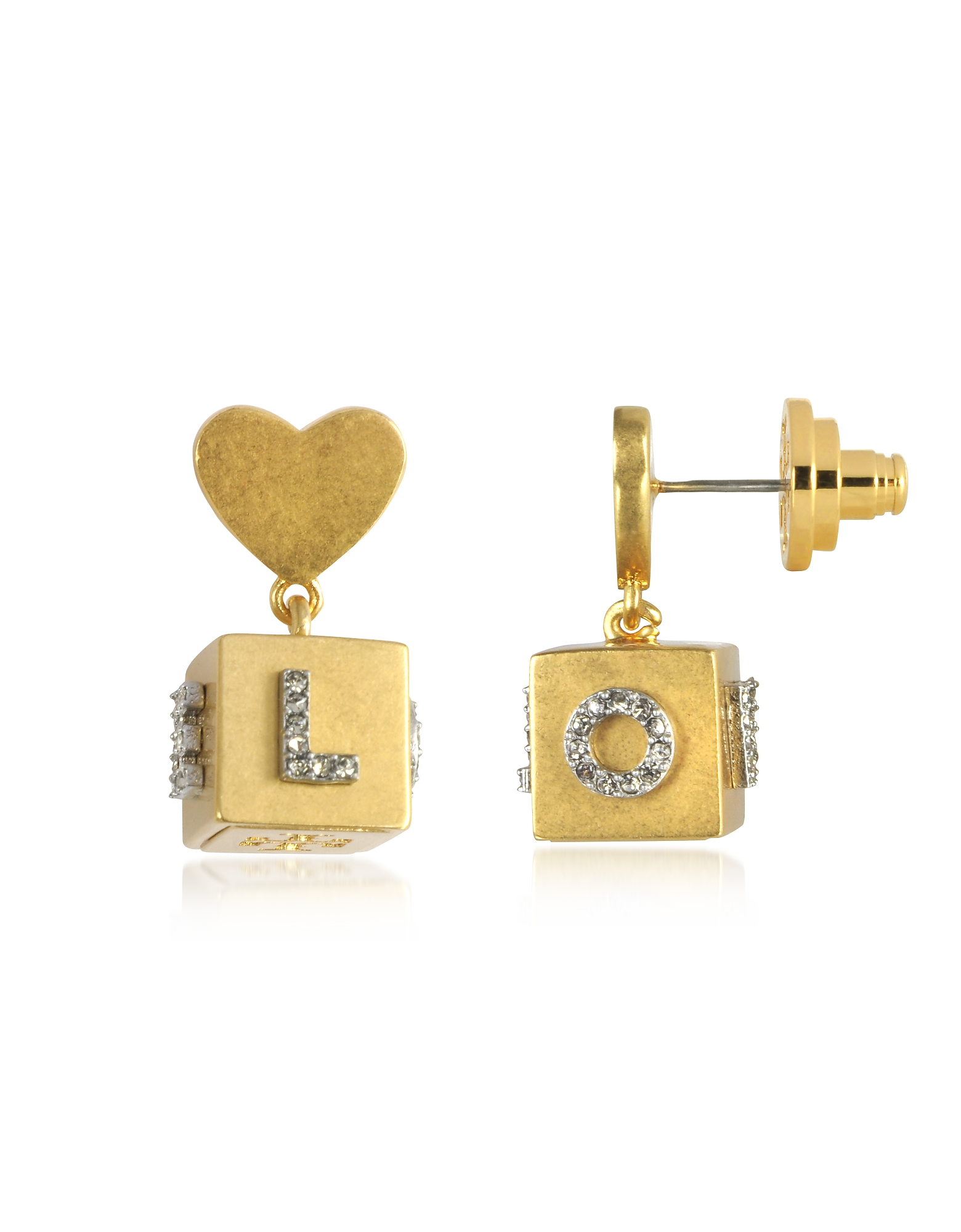 Tory Burch Earrings, Love Message Cube Drop Earrings