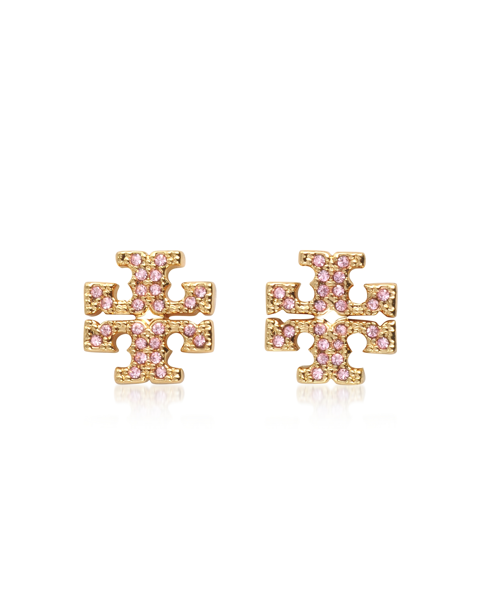 Crystal Logo Cross-Stud Earrings