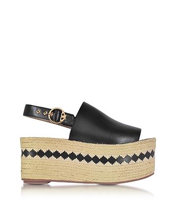 Dandy Black Veg Leather Wedge Espadrille Sandal ty430117-004-04