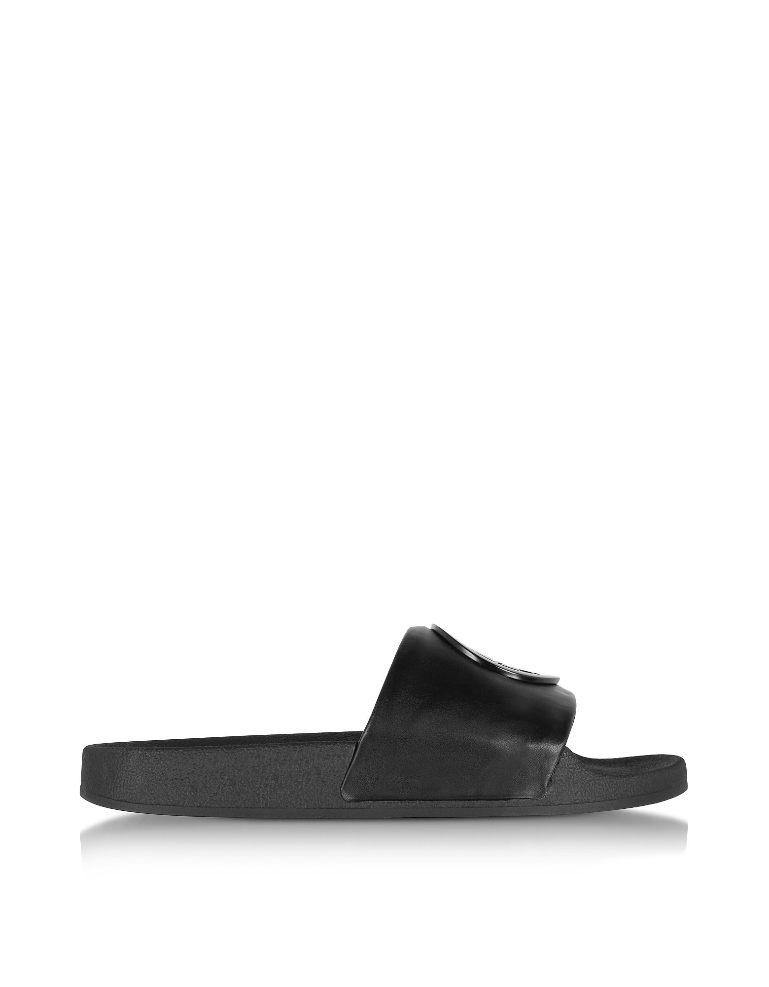 Tory Burch Shoes, Black Leather Lina Slide Sandals