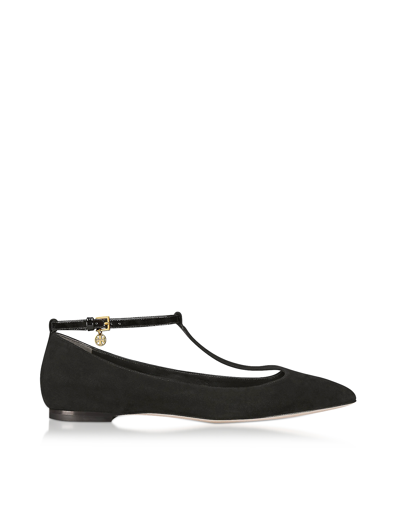 Ashton Ballerine in Suede Nero