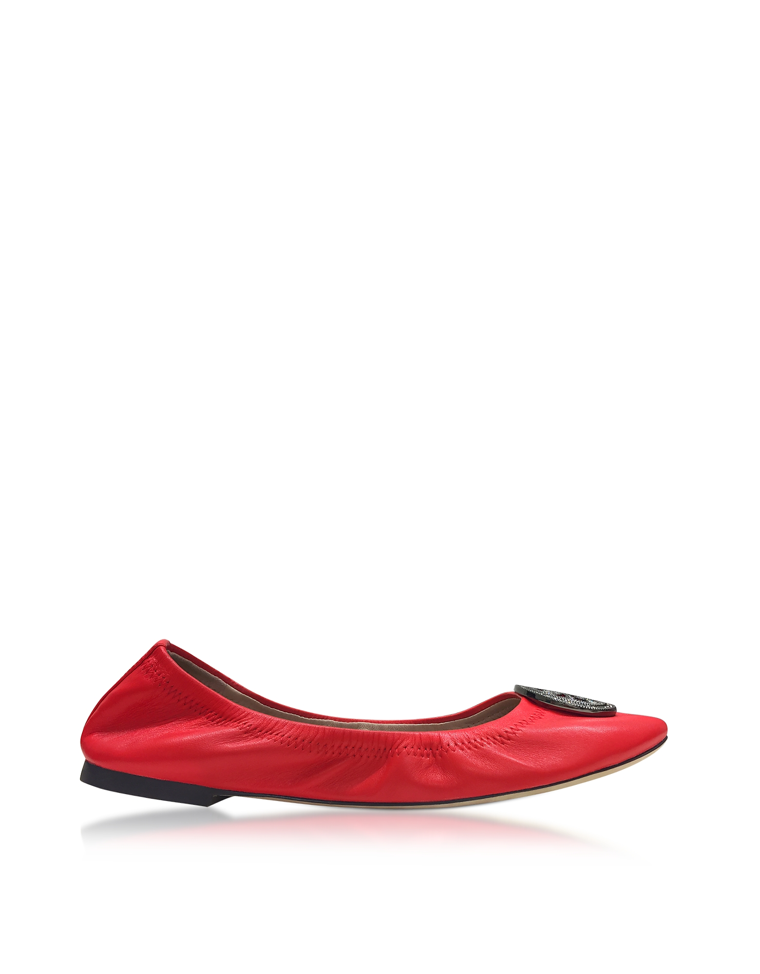 Tory Burch Shoes, Liana Exotic Red Leather Ballet Flats