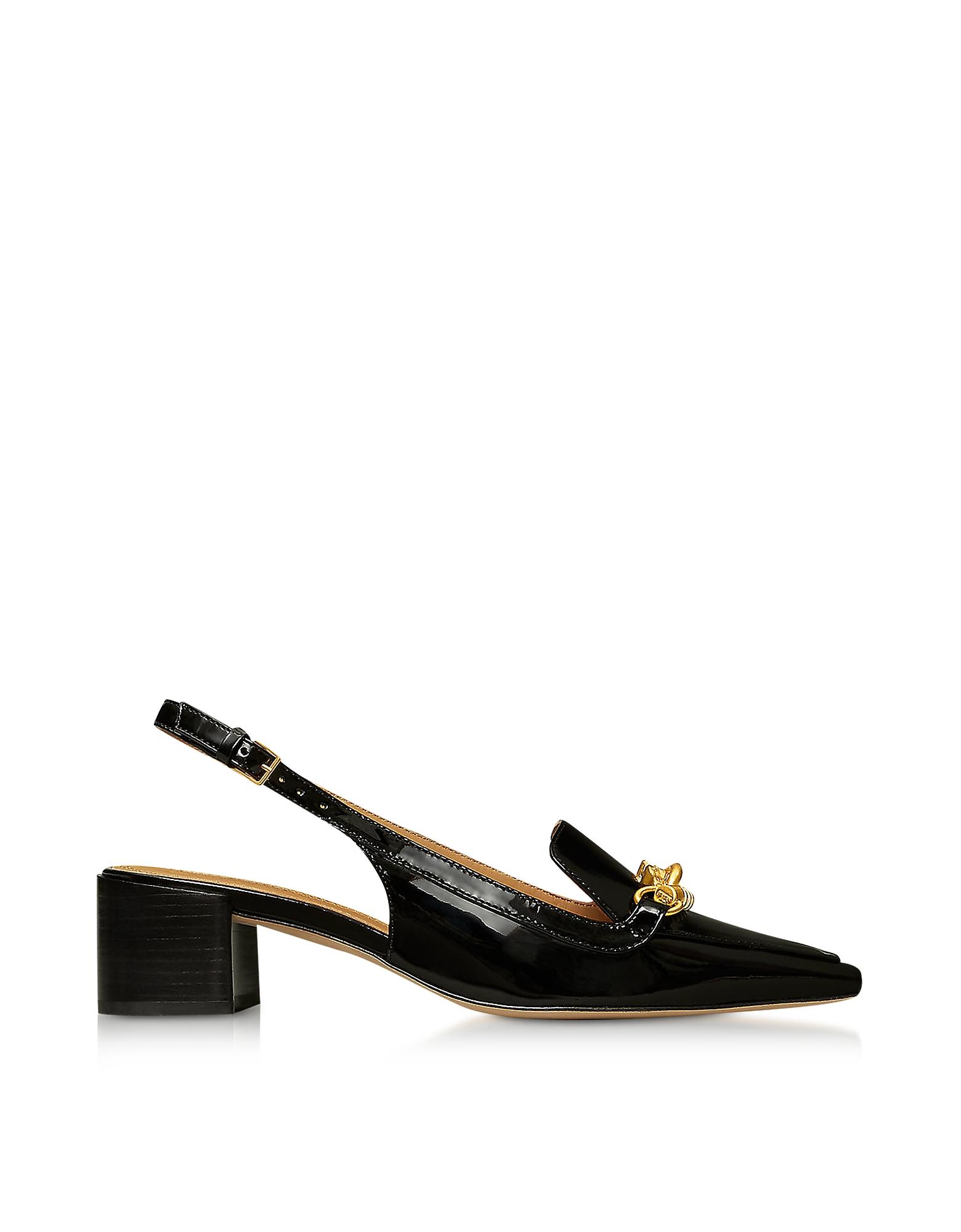 Tory Burch Designer Shoes, Jessa 45MM Perfect Black Slingback Pumps