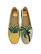 Castaway Natural and Multicolor Linen Flat Espadrilles - Tory Burch