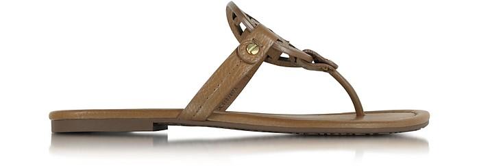 Miller Royal Tan Leather Sandal - Tory Burch