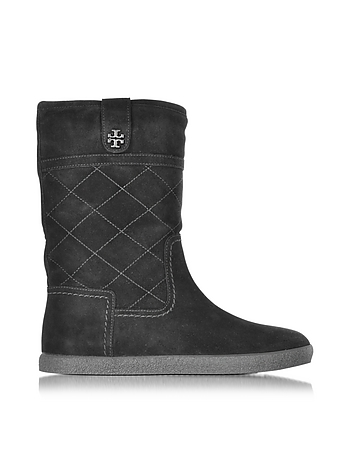 Tory Burch - Alana Black Suede Boot