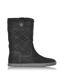 Alana Black Suede Boot - Tory Burch