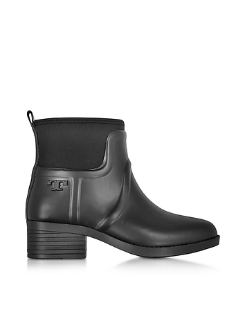 April Black Rubber Rain Bootie