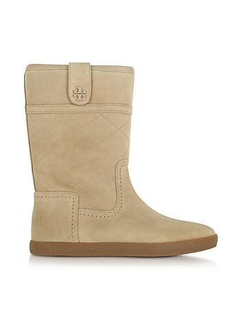 Tory Burch Alana Light Camel Suede Boots