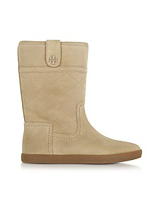 Alana Boot aus Wildleder in camel - Tory Burch