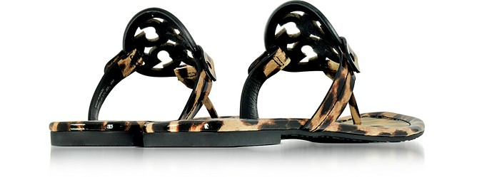 Tory Burch Miller Natural Leopard Print Leather Flat