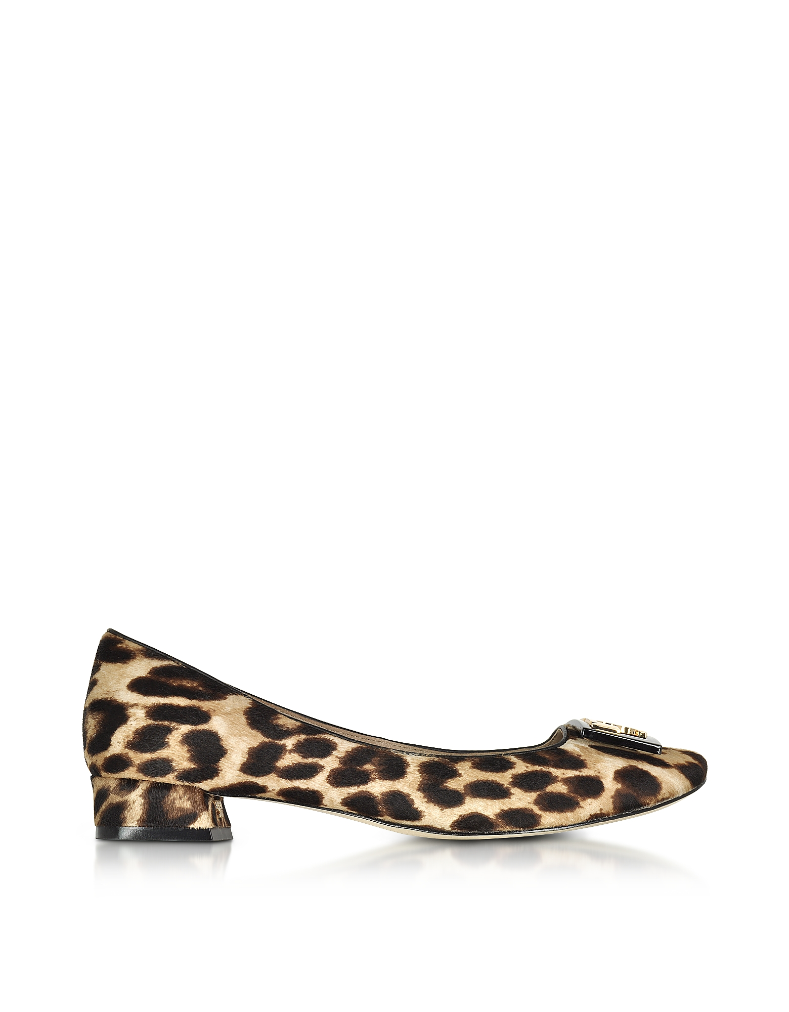 Tory Burch Shoes, Gigi Natural Leopard Print Leather Mid-heel Pumps