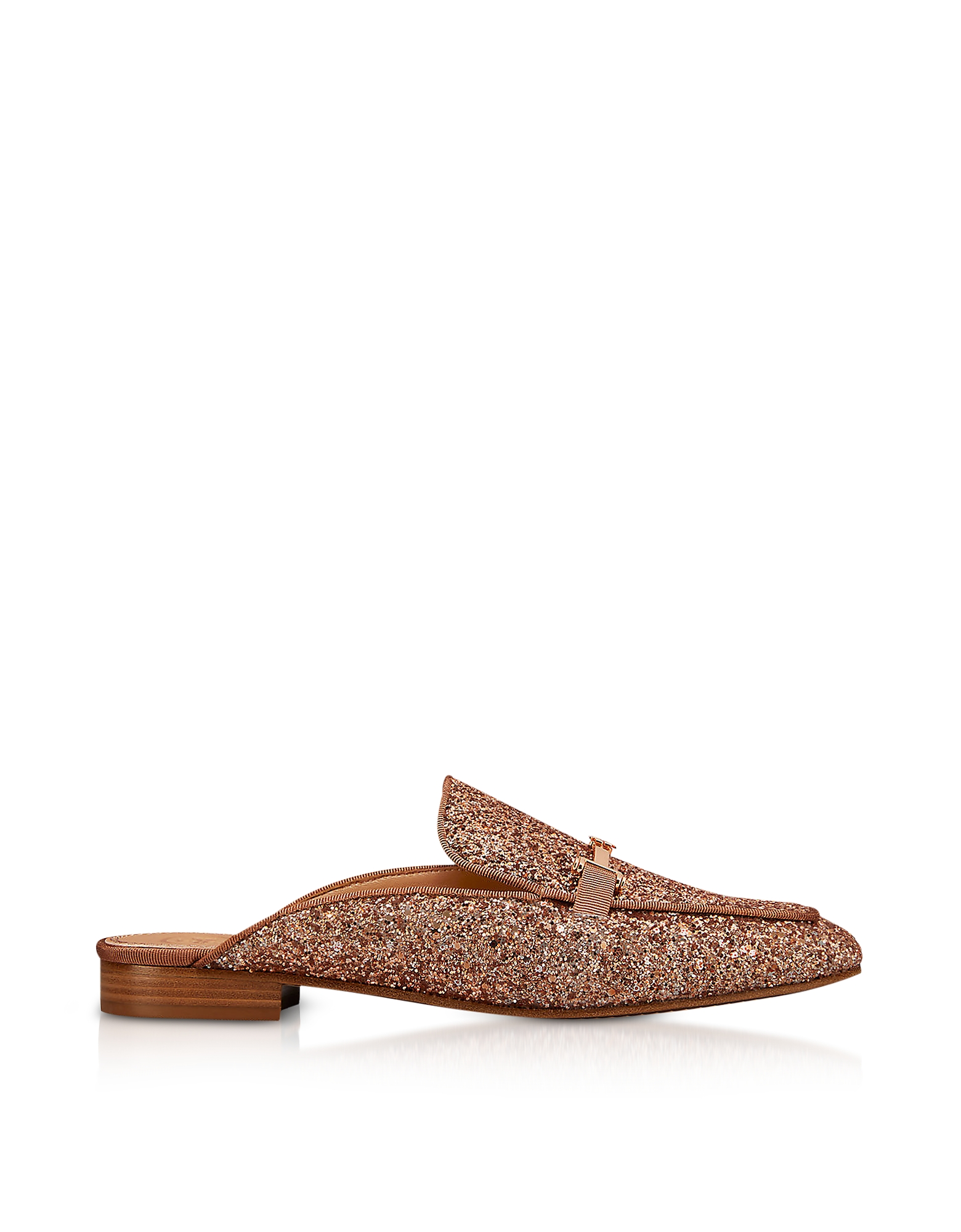 Tory Burch Shoes, Amelia Glitter Rose Gold Mules