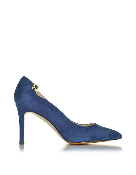 Foto Tory Burch Elizabeth Décolleté in Suede Royal Navy Scarpe