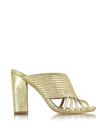 Tory Burch - Brida Smooth Metallic Mule