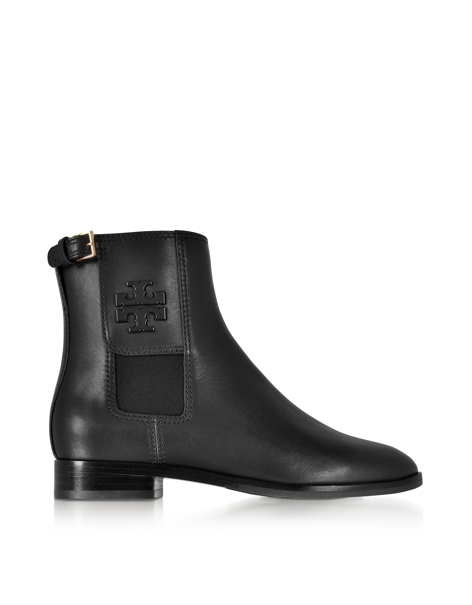Tory Burch Shoes, Wyatt Black Leather Bootie