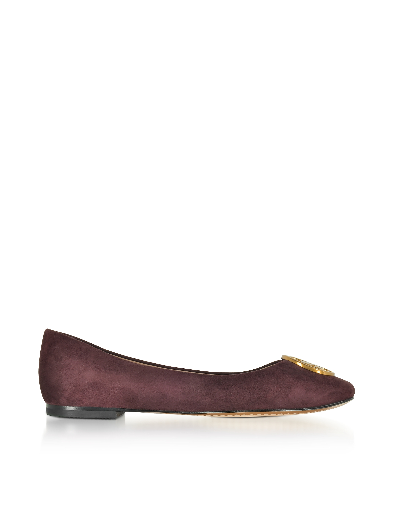 Tory Burch Shoes, Chelsea Maroon Suede Ballet Flats