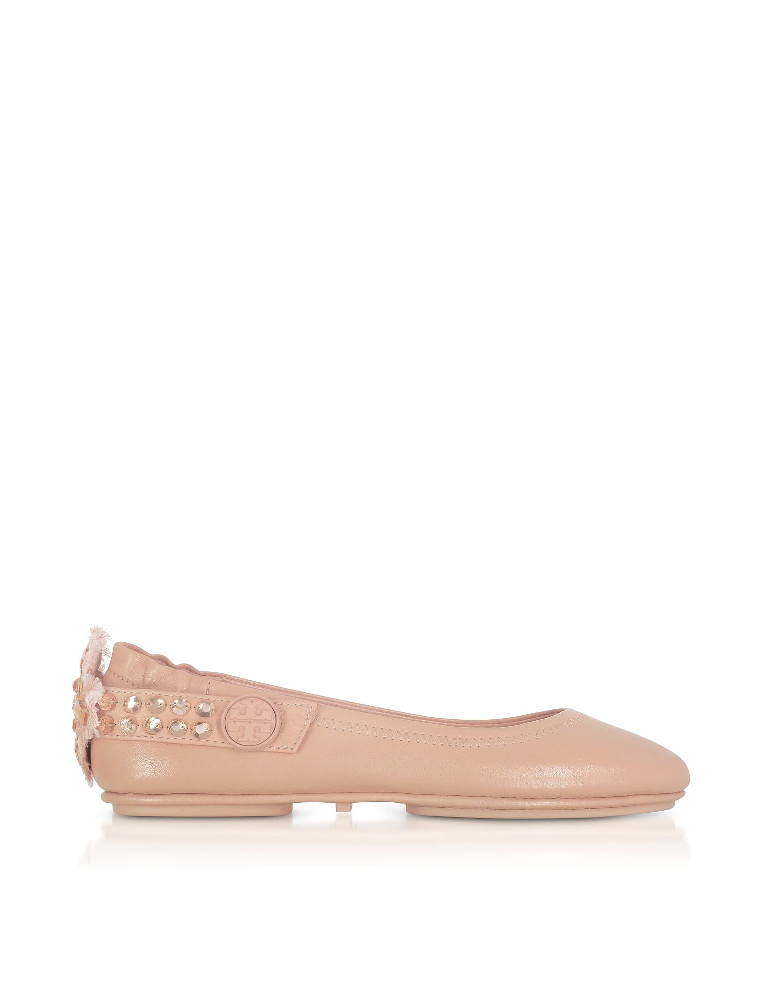 Tory Burch Shoes, Minnie Two Way Warm Blush Nappa Leather Ballet Flats
