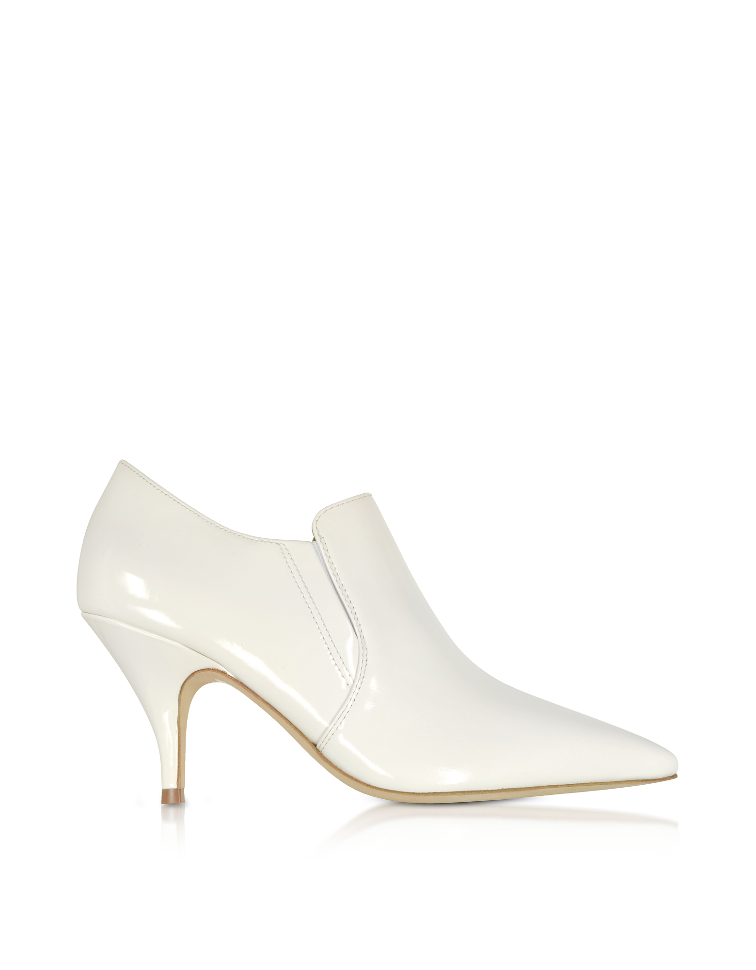 Tory Burch Shoes, Georgina White Patent Leather Bootie