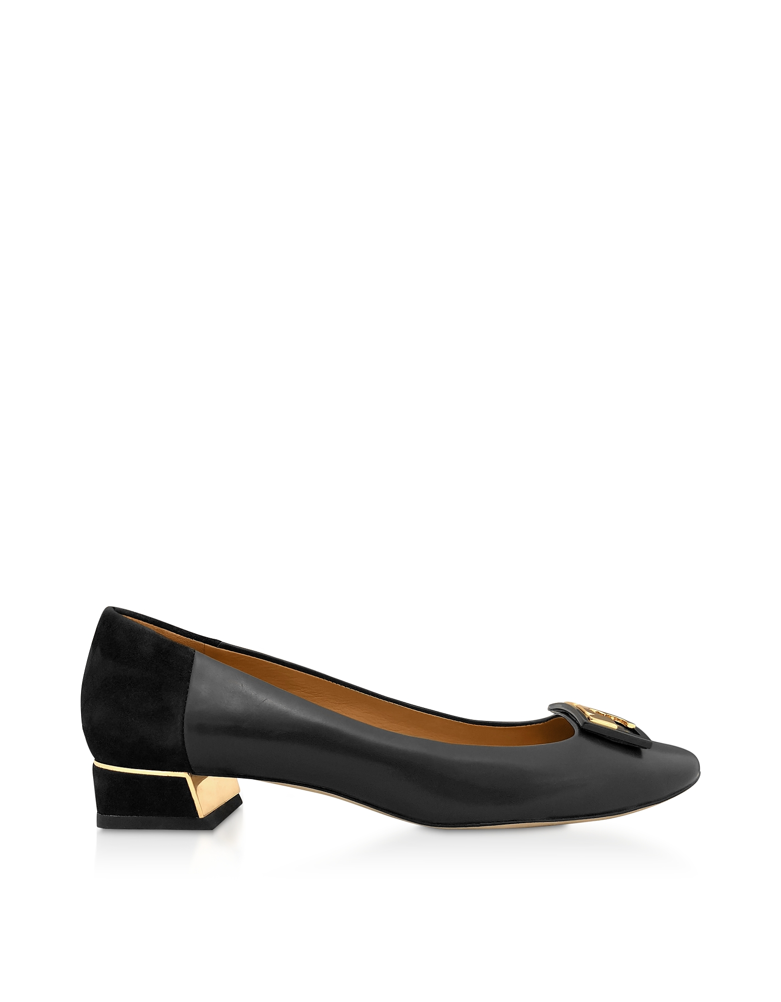 TORY BURCH | Tory Burch Designer Shoes, Perfet Black Gigi 20mm Round Toe Flat Ballerinas | Goxip