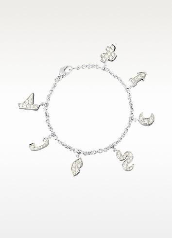 1.49 ctw White Gold Diamond Charm Bracelet - Colucci Diamonds
