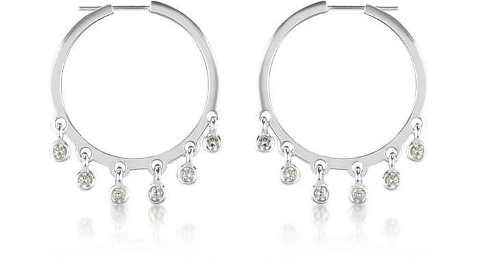1.40 ctw White Gold Diamond Dangle Earrings - Colucci Diamonds