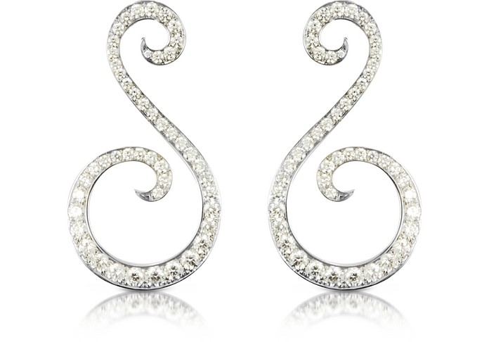 Pegasus - Boucles d'oreilles en or blanc 18K  et diamants 5.92 CTW - Colucci Diamonds