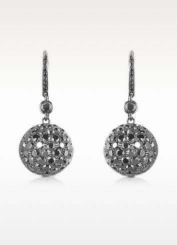22.58 ctw Black Diamond Drop Earrings - Colucci Diamonds
