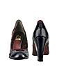 Blue & Red Perforated Patent Leather Pump Shoes - Un Deux Trois