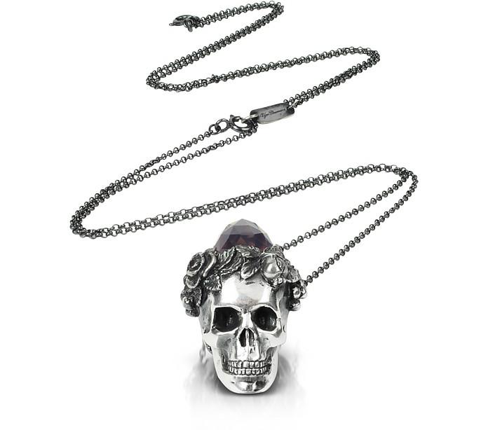 Sterling Silver and Smoky Quartz Cardinal Pendant Necklace - Ugo Cacciatori