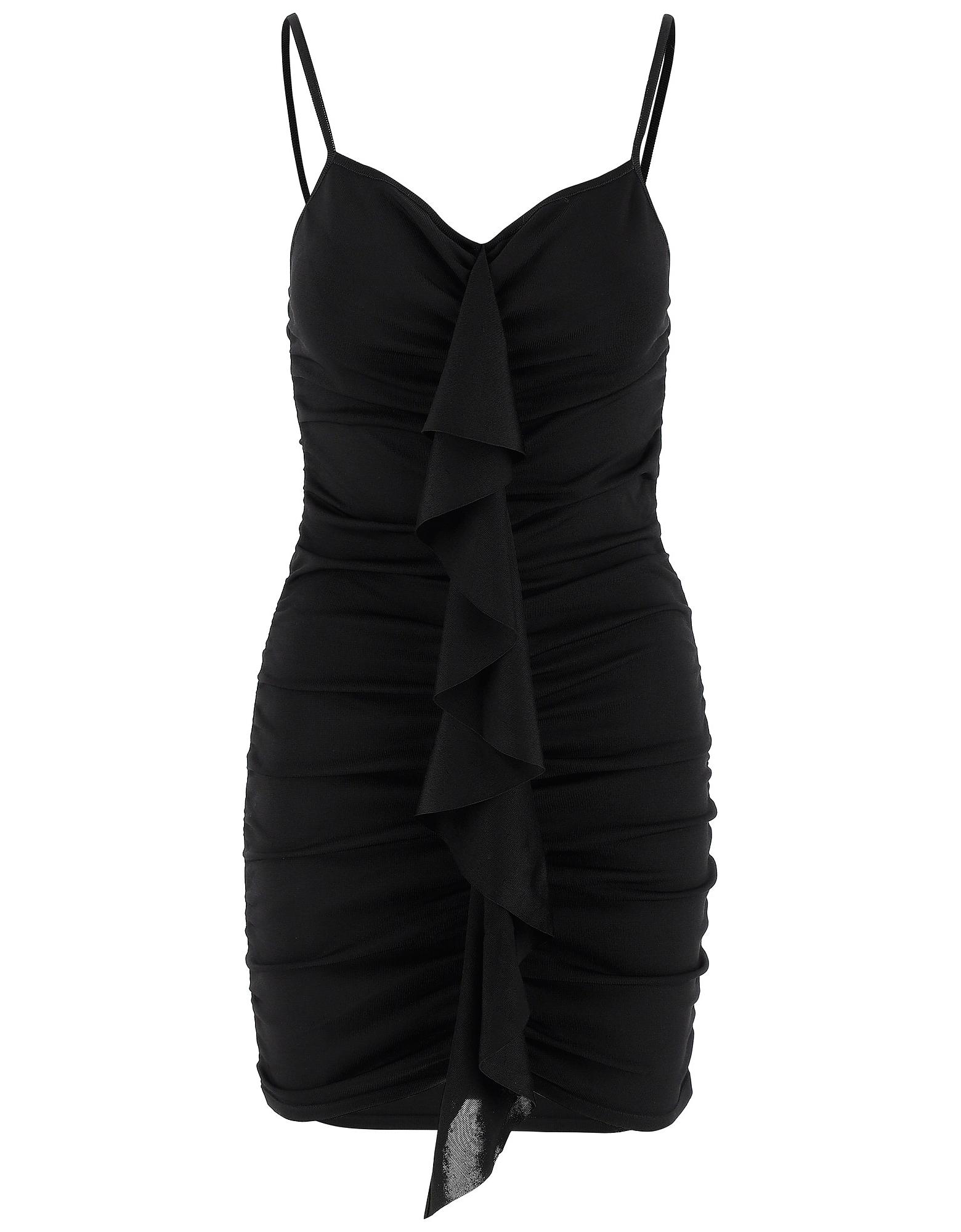 Alexandre Vauthier Designer Dresses & Jumpsuits, Black Stretch Viscose Women's Mini Dress