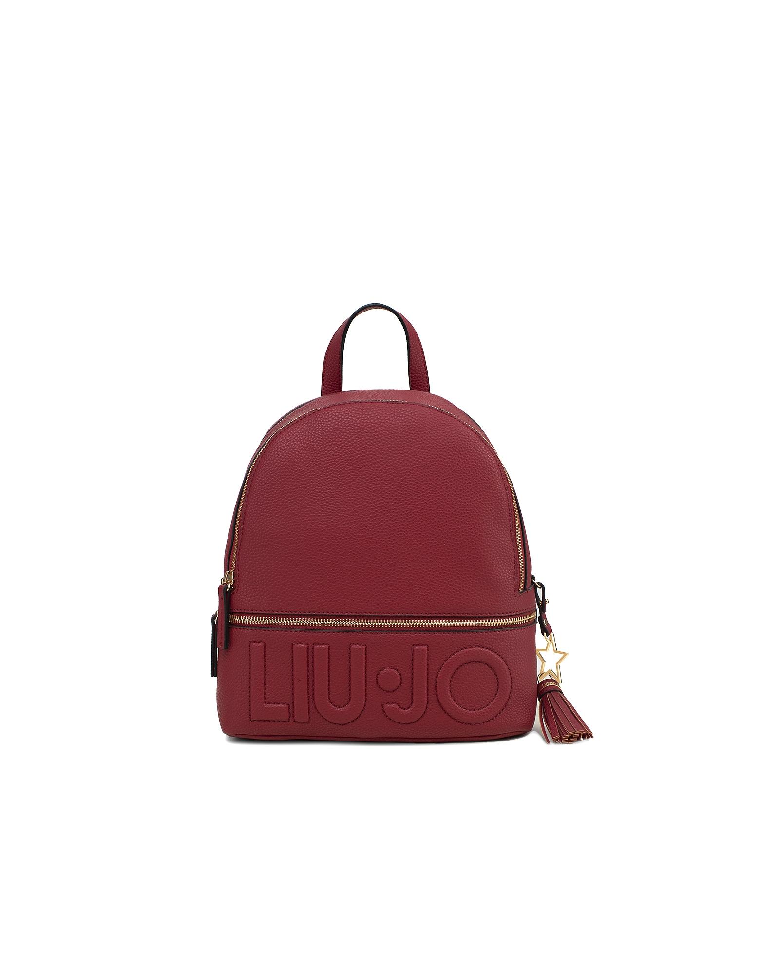 Liu Jo Designer Handbags, Women's Red Backpack