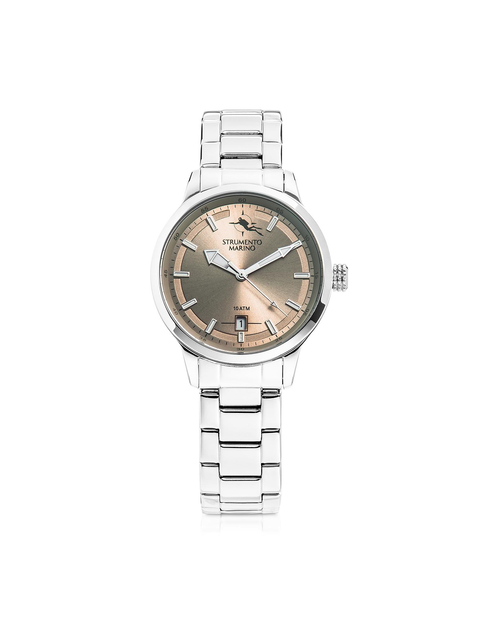 Sirenetta Stainless Steel Women's Watch w/ Butterfly Clasp