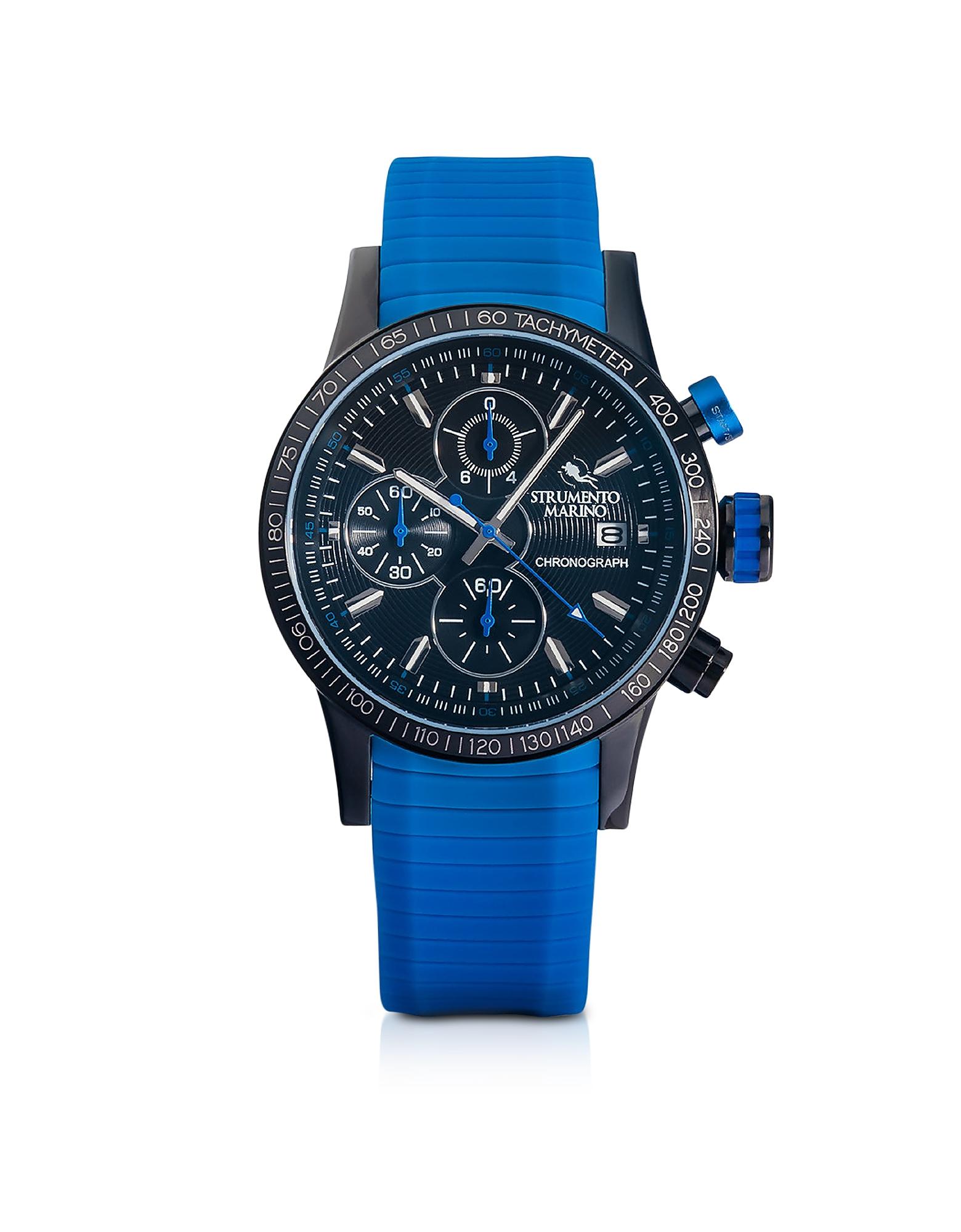 Admiral Orologio con Cronografo da Uomo in Acciao e Silicone Blu