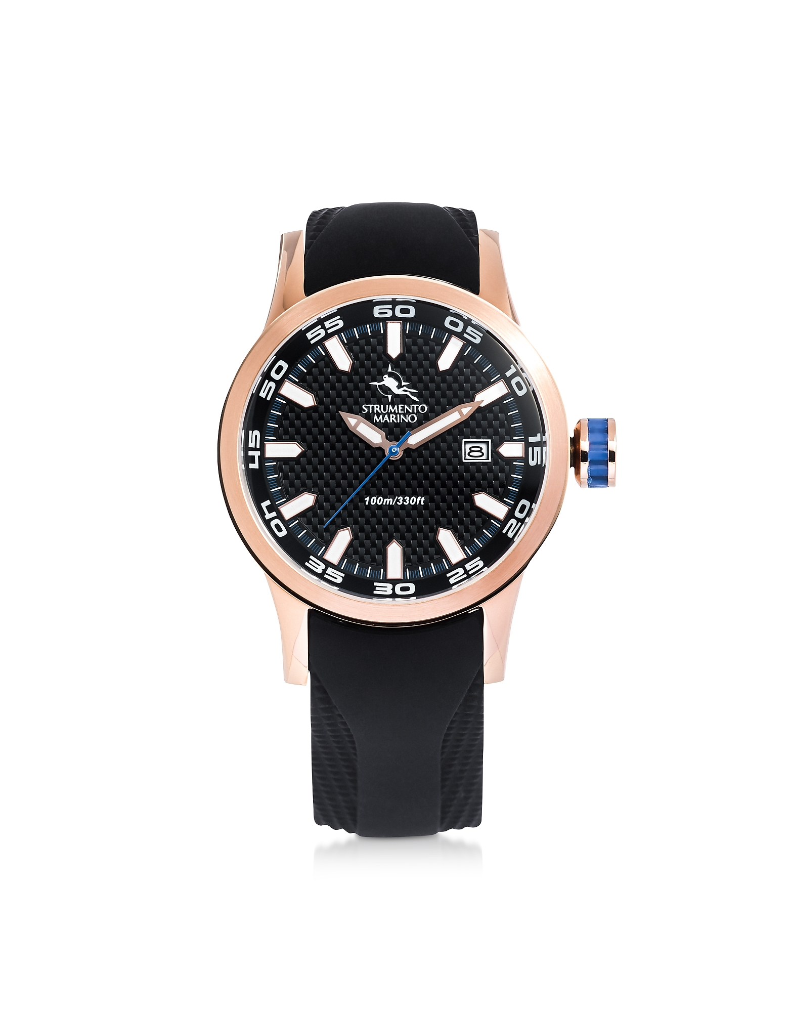 Black & Rose Gold Speedboat Stainless Steel Men's Watch