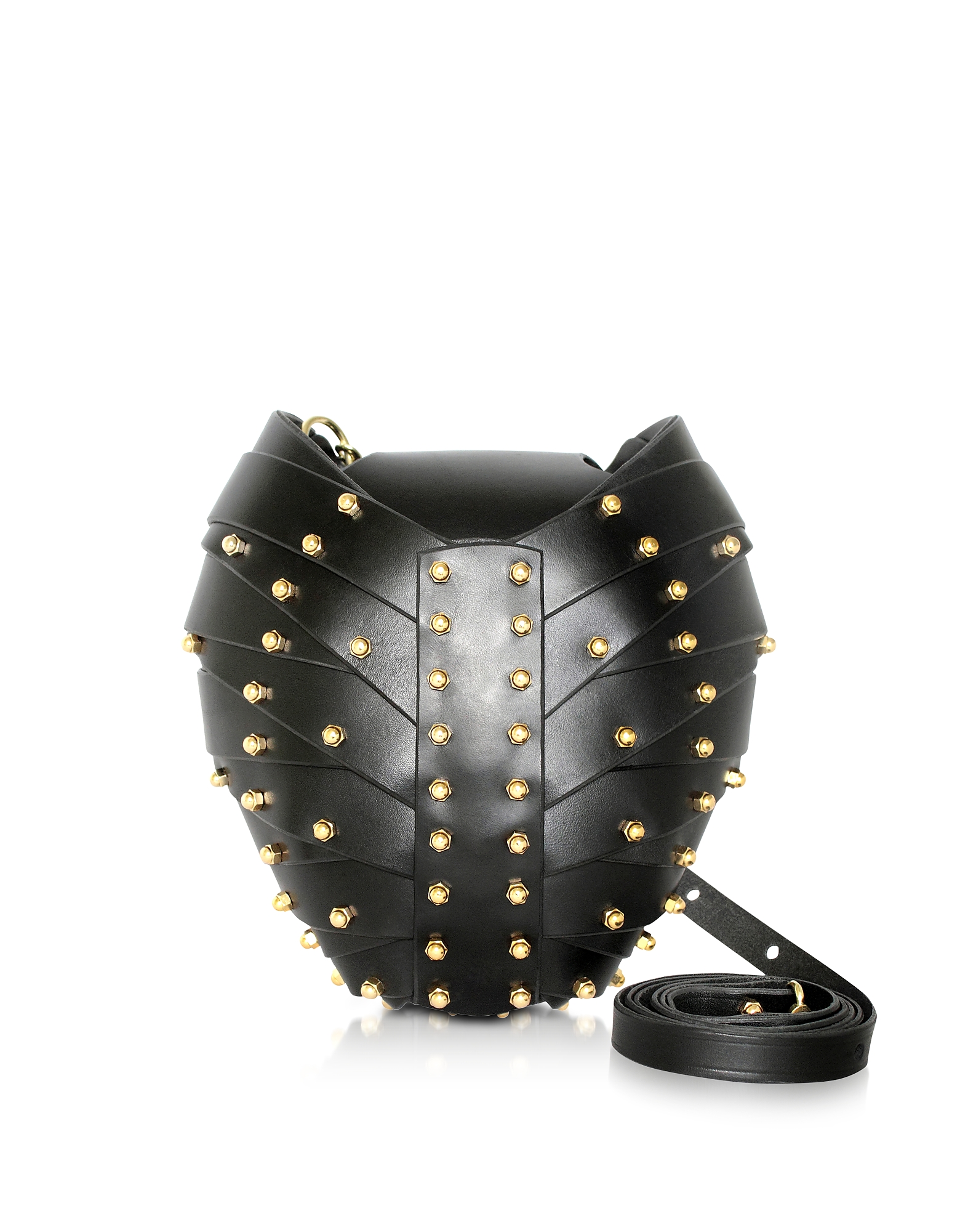 Una Burke Handbags, Black Leather Heart Bag