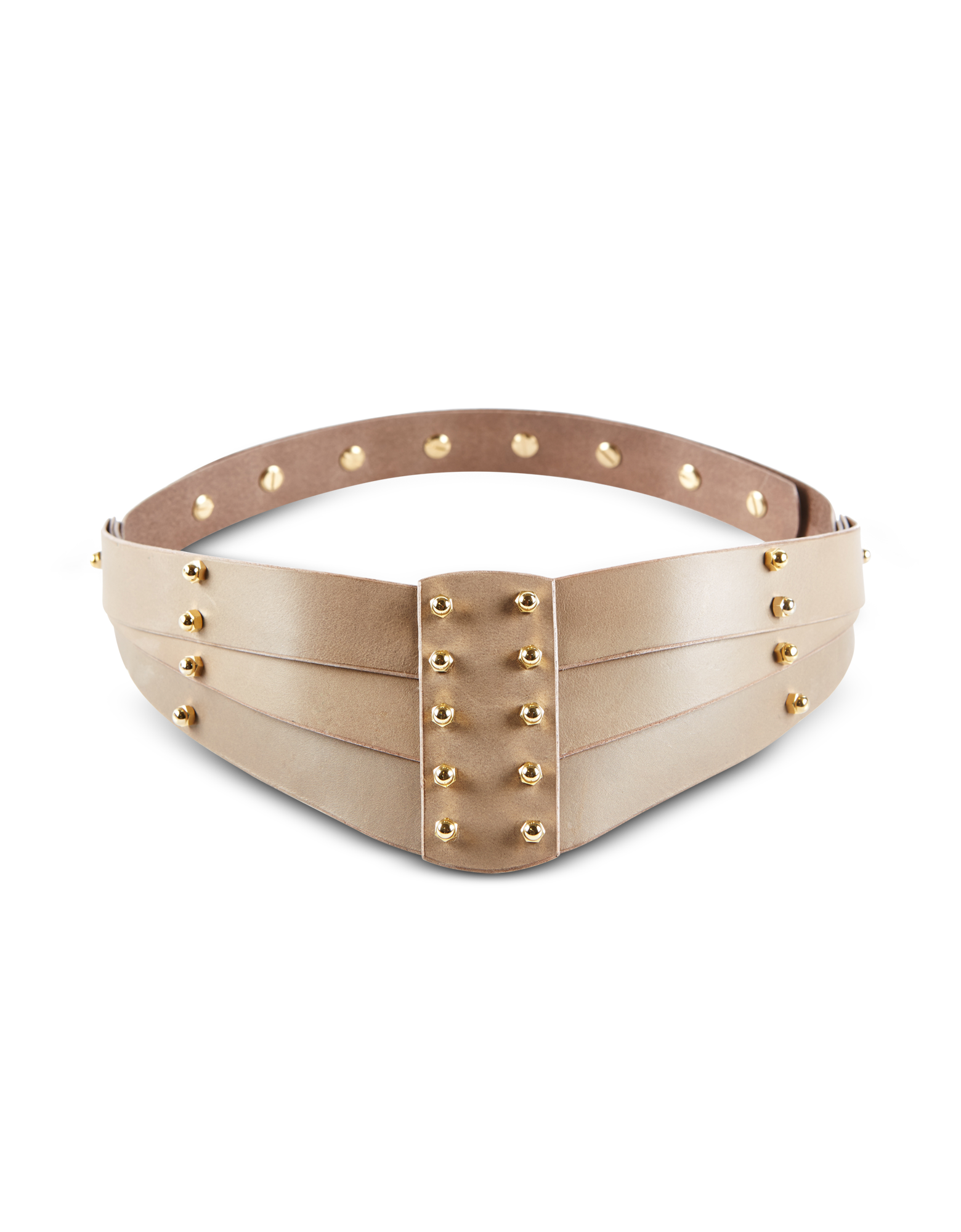 Image of Taupe Back Detail Belt