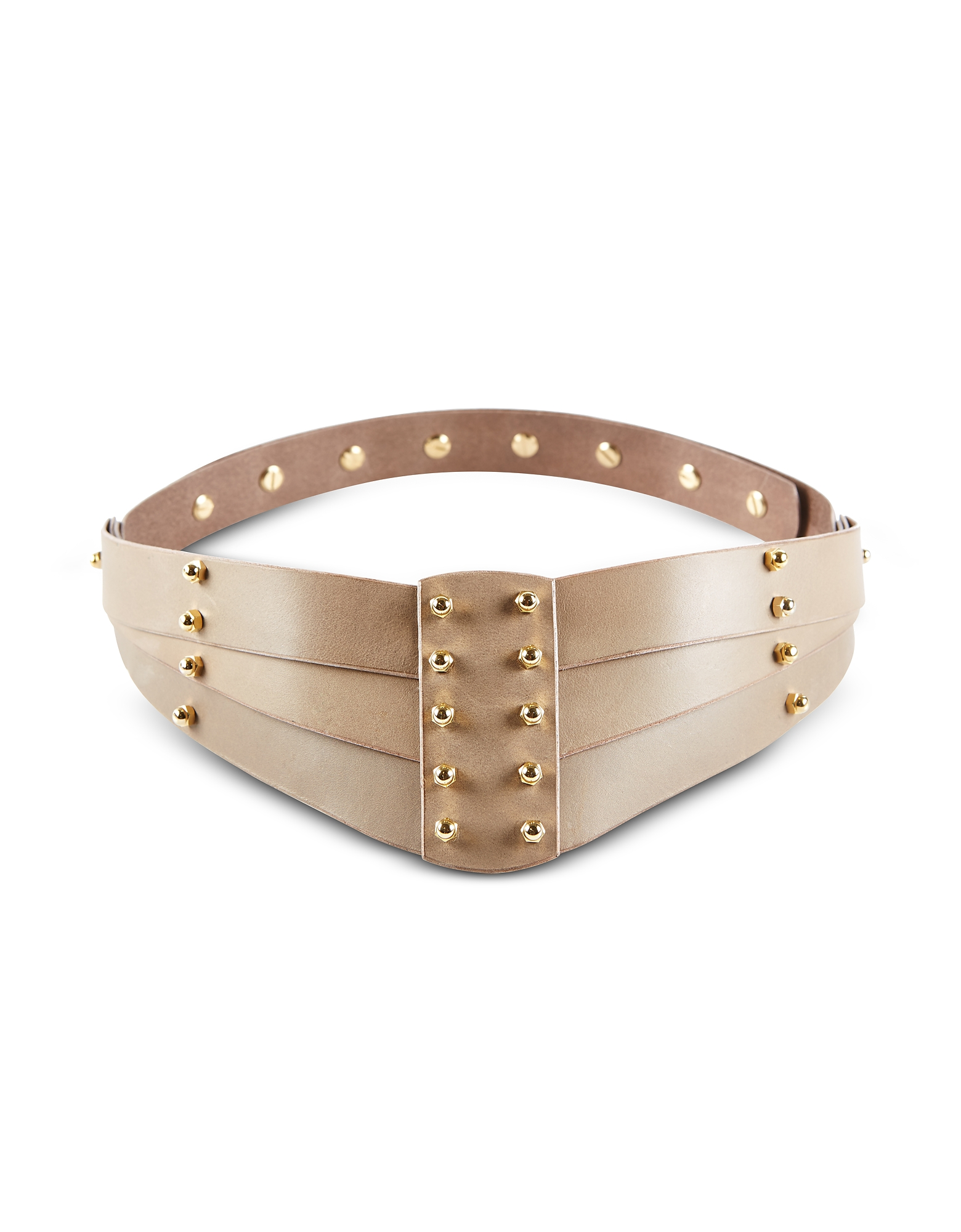 Taupe Back Detail Belt