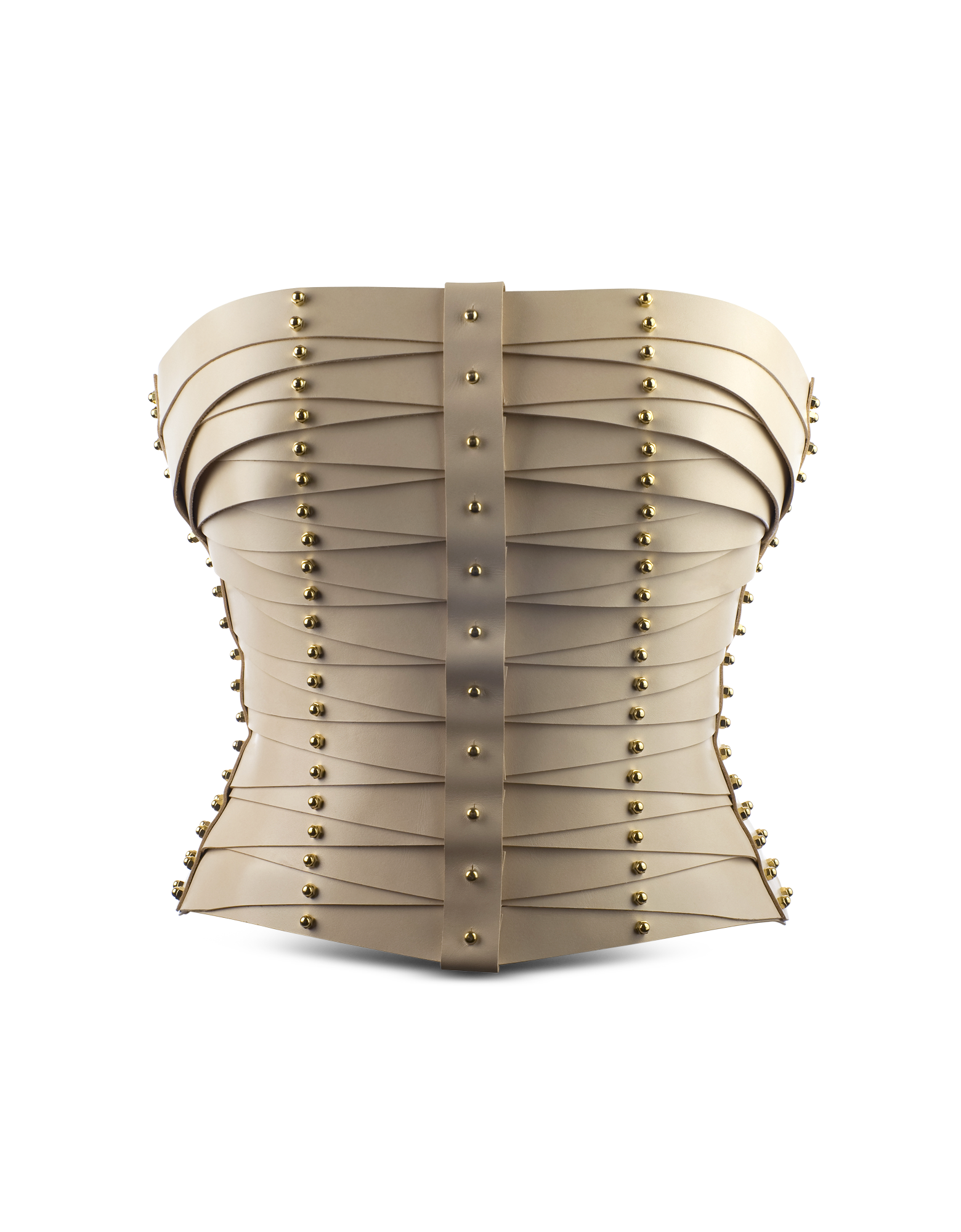 Image of Cream Laced Strapped Bustier